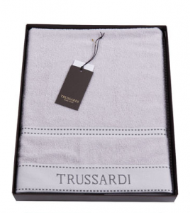Полотенце банное Trussardi RIBBON Dark Grey